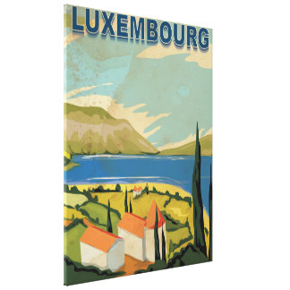Luxembourg Vintage Travel Poster Canvas Print