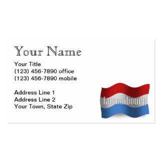 Luxembourg Waving Flag Business Card
