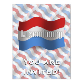 Luxembourg Waving Flag Card