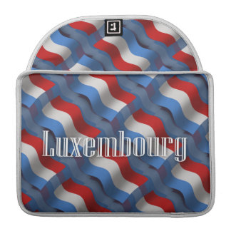 Luxembourg Waving Flag Sleeve For MacBook Pro