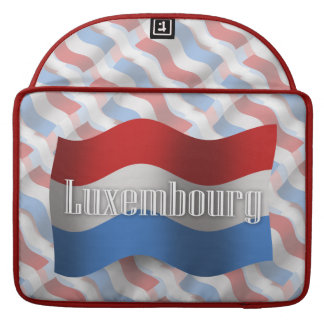 Luxembourg Waving Flag Sleeves For MacBooks