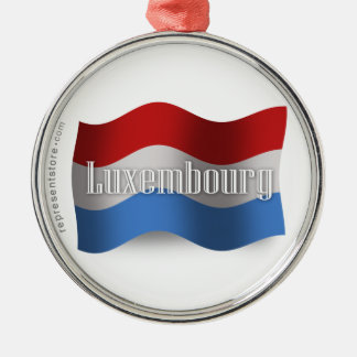 Luxembourg Waving Flag Metal Ornament