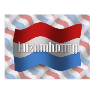 Luxembourg Waving Flag Postcard