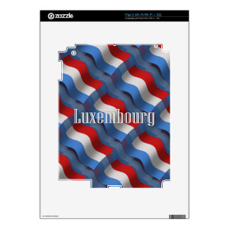 Luxembourg Waving Flag Decal For iPad 2
