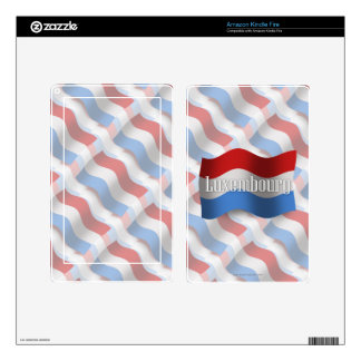 Luxembourg Waving Flag Kindle Fire Skin