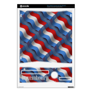 Luxembourg Waving Flag Decal For Xbox 360 S