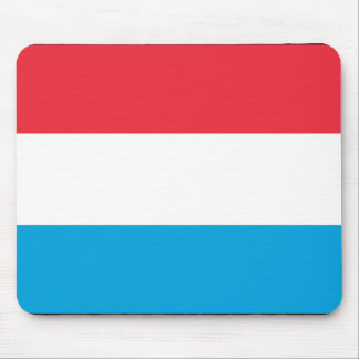 Luxembourg With Border, Luxembourg flag Mouse Pads