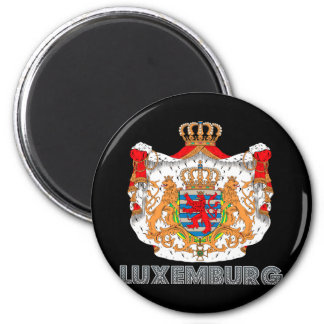 Luxembourger Emblem 2 Inch Round Magnet