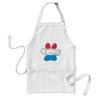 Luxembourger patriotic cat adult apron