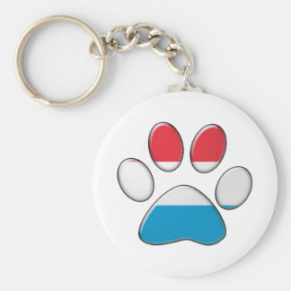 Luxembourger patriotic cat keychain