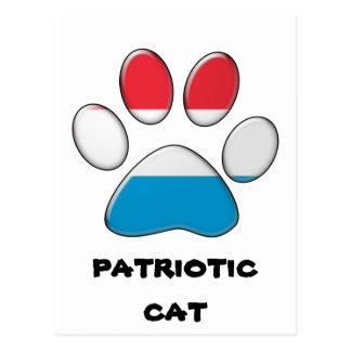 Luxembourger patriotic cat postcard