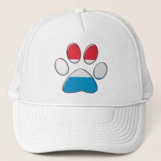 Luxembourger patriotic cat trucker hat