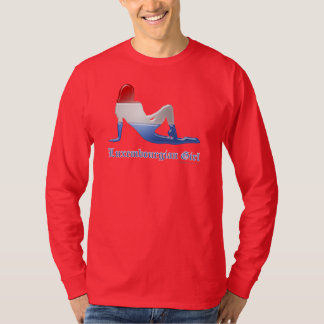 Luxembourgian Girl Silhouette Flag T-Shirt