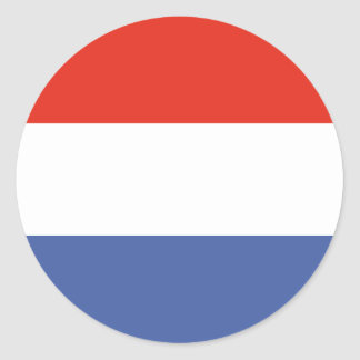 Luxemburg flag classic round sticker