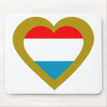 luxemburg-heart mouse pad