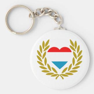 luxemburg-laurel-heart keychain