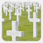 Luxemburgo, Hamm. Cementerio de los militares de Pegatina Cuadrada
