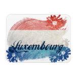 Luxemburgo señala diseño por medio de una bandera imán rectangular