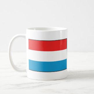 Luxemburgo señala la taza del mapa por medio de