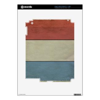 Luxemburgo señala por medio de una bandera calcomanía para el iPad 2