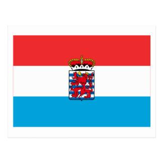 Luxemburgo señala por medio de una bandera (de leg tarjetas postales
