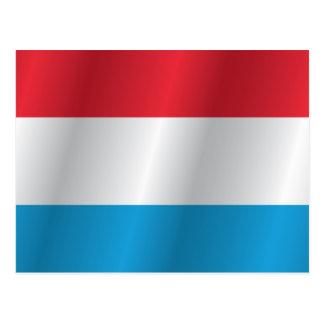 Luxemburgo señala por medio de una bandera tarjetas postales