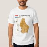 Luxemburgo traza + Bandera + Camiseta del título Playeras