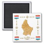 Luxemburgo traza + Imán de las banderas