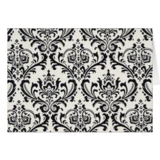 LUXERY BLACK AND WHITE 2 GREETING CARD