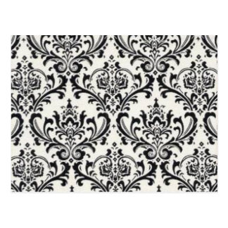 LUXERY BLACK AND WHITE 2 POSTCARD