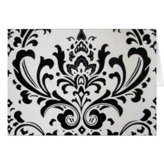 LUXERY BLACK AND WHITE GREETING CARD