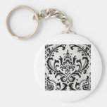 LUXERY BLACK AND WHITE KEY CHAIN