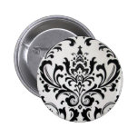 LUXERY BLACK AND WHITE PINBACK BUTTONS