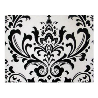 LUXERY BLACK AND WHITE POSTCARD