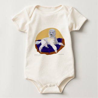 Luxery is the only way to go! baby bodysuit