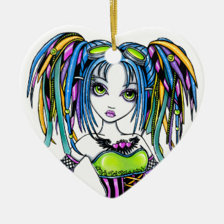"""Luxie"" Rainbow Cyber Goth Fairy Ornament"
