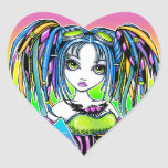 """Luxie"" Rainbow Cyber Goth Fairy Stickers"