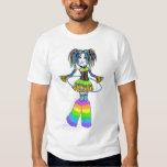 """""""Luxie"""" Rainbow Cyber Goth Hula Hoop Fae Top Tees"""
