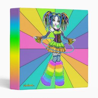"""Luxie"" Rainbow Cyber Goth Hula Hoop Fairy Binder"