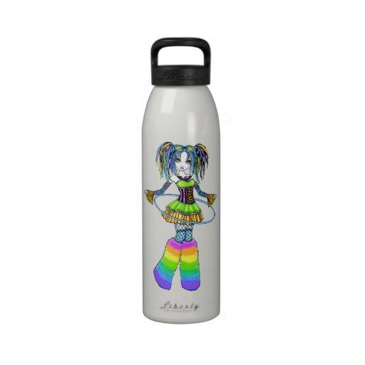 Luxie Rainbow CyberGoth Hula Hoop Fairy Bottle Drinking Bottle