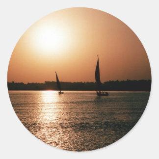 Luxor Beach Classic Round Sticker