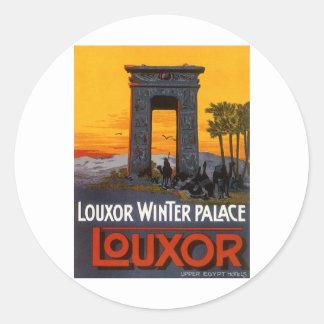 Luxor Egypt Classic Round Sticker