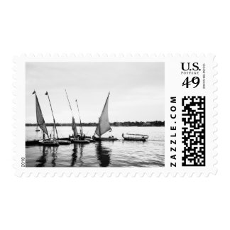 Luxor Egypt, Feluccas on the Nile 2 Stamp