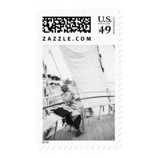 Luxor Egypt, Passener on Luxor Ferry (NR) Stamp