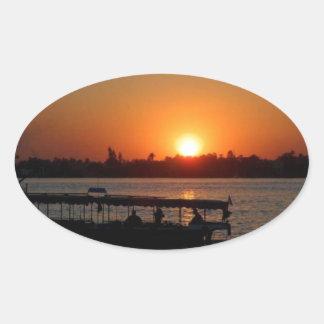 Luxor Oval Sticker