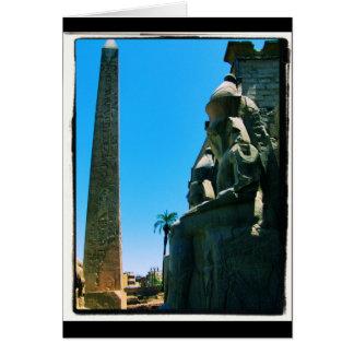 Luxor Temple Obelisk Card