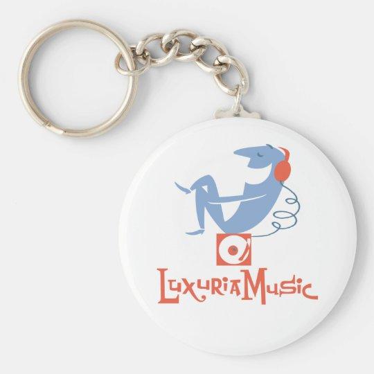 LuxuriaMusic White Keychain