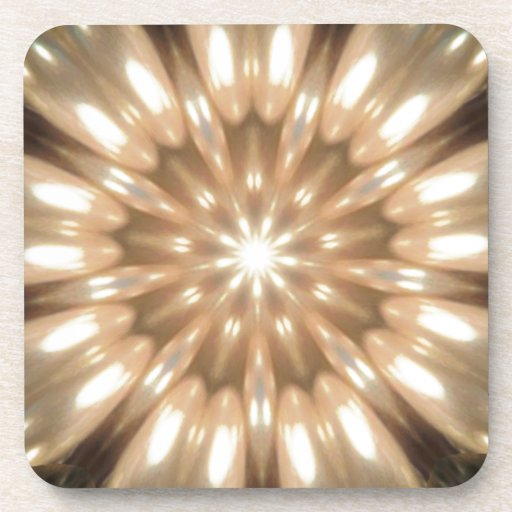 Luxurious Antique Pearls Kaleidoscope Drink Coaster
