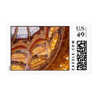 Luxurious Architecture, Paris France, Golden Stamp