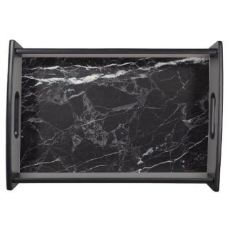 Luxurious Black Marble Serving Tray
